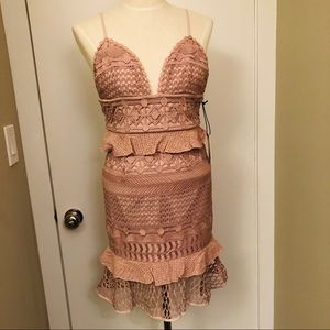 NWT Saylor brand - Blush Drew Cocktail Dress Small